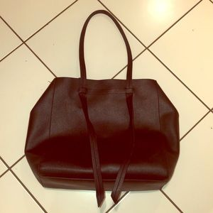 Black Organizer Tote Bag